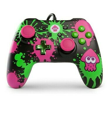 $22.99 • Buy Nintendo Switch PowerA Splatoon 2 Wired Controller - CONTROLLER ONLY