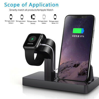 AU18.96 • Buy AU Charger Dock Stand Charging Bracket 2in1 For IWatch 5/4/3/2/1 IPhone 11 8 XS