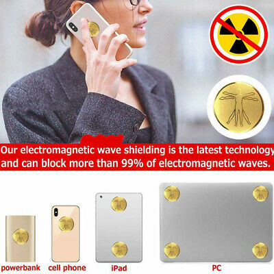 Anti Radiation Protector Sticker Mobile Phones Laptop Ions EMF Blocker Outdoor • 11.87£