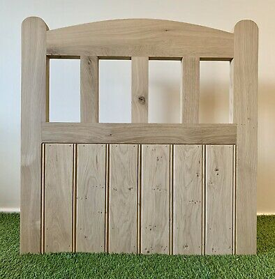 Rustic Solid Hardwood European Oak Garden Gate Handcrafted Arched 900mm X 900mm • 380£