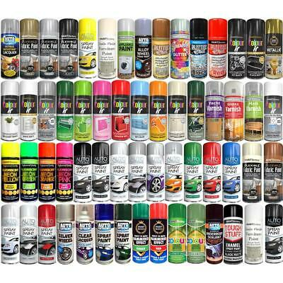 Spray Paint Aerosol Primer Matt Gloss Metallic Chalk Glitter Wood Metal Plastic • 5.48£