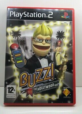 Buzz The Hollywood Quiz + 4 Wired Buzzers - Sony Playstation 2 PS2 Set  • 18.99£