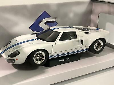 Ford GT40 Widebody White Blue Stripe 1:18 Scale Solido S1803002 • 50.99£