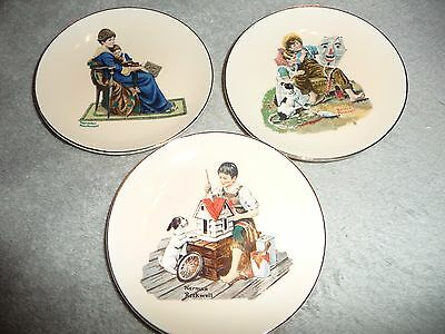 $ CDN9.91 • Buy Norman Rockwell Collector 4   Plates-Set Of 3