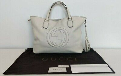 AU800 • Buy Gucci Soho Tote Shoulder Bag White