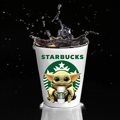 $13.97 • Buy Starbucks Baby Yoda Star Wars Cute Yoda STARBUCKS Funny Shot Glass Gift
