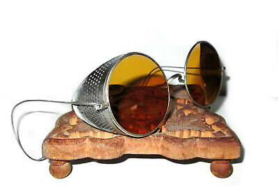 $139.99 • Buy Antique Amber Willson Sunglasses Goggles Spectacles Vtg Steampunk Safety Glasses
