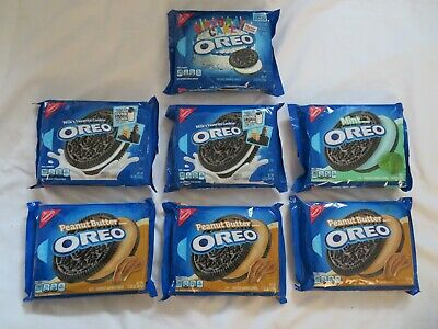 (7) Nabisco Oreo Cookies Peanut Butter Mint Birthday Cake Original 15.25 Oz Each • 30.93£