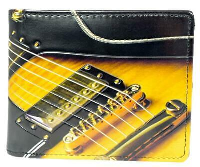 Electric Guitar Gents Leatherette Wallet • 18.99£