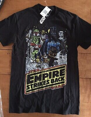 $9.99 • Buy Star Wars T-Shirt Empire Strikes Back Size Small Kids Black New With Tags