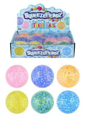 2 GEL STRESS Balls Squeeze Anti Stress Reliever Kids SENSORY Toy Gift Party • 5.99£