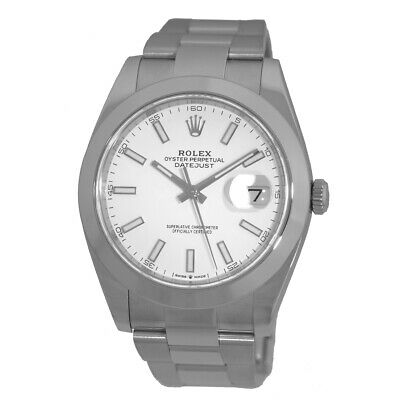 $ CDN10615.27 • Buy ROLEX Stainless Steel 41mm Datejust II 126300 White 2019 Warranty Card MINTY