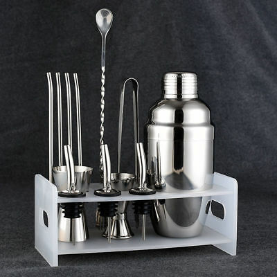 Fsshion Cocktail Shaker Set Stainless Steel 5 Piece Kit Set • 10.14£