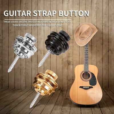 $ CDN7.20 • Buy Guitar Strap Button Lock Buckle Skidproof Acoustic Electric Bass Strap Parts