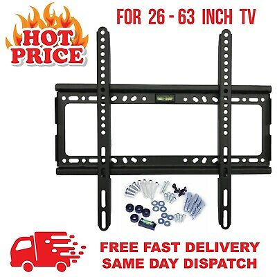 £8.99 • Buy TV Wall Bracket Mount 26 32 36 40 42 46 50 55 Up To 63 Inch Samsung LG Sony LCD