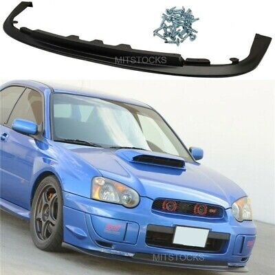$61.99 • Buy Fits 04 05 Subaru Impreza WRX Sti V-Limited Front Bumper Lip Spoiler Body Kit PP