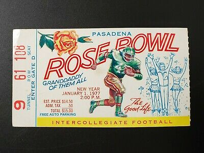 $19.95 • Buy 1977 Rose Bowl College Football Ticket Stub Michigan Wolverines Vs USC Trojans