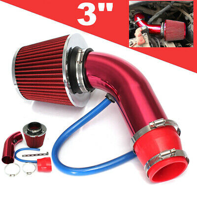 "AU50.47 • Buy 3""/76mm Universal Car Cold Air Filter Alumimum Induction Intake Pipe Hose Set"