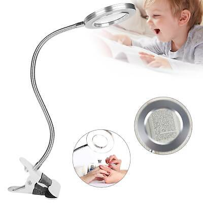 £11.19 • Buy Desk Table Top 8X Magnifying Glass Beauty Nail Salon Tattoo Magnifier Lamp Light