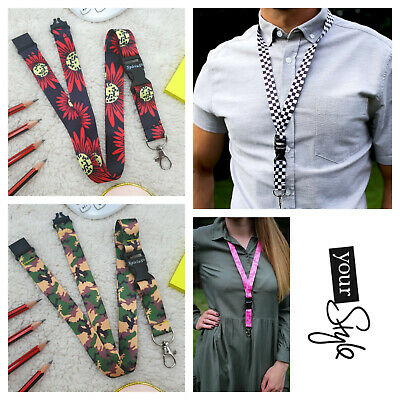$6.33 • Buy Fashion Neck Lanyard For Phone Id Card Keys Usb With Clip And Buckle Spirius UK