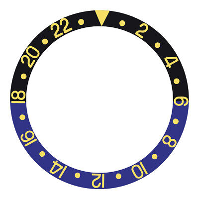 $ CDN25.35 • Buy Bezel Insert For Rolex Gmt Master Ii 16713, 16718 Black/blue Batman Gold
