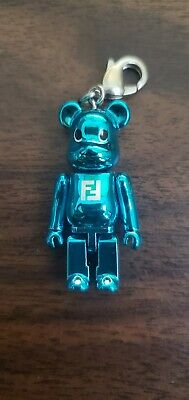 $150 • Buy Fendi Bearbrick Be@rbrick 50% Keychain Blue Medicom Rare