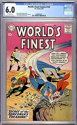 AU245 • Buy World's Finest Comics #103 - CGC Graded 6.0 (FN) 1959 - Silver Age
