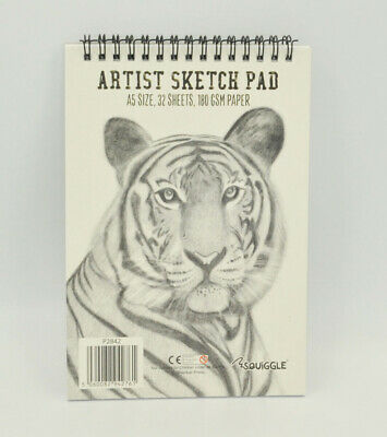 A5 Size Sketch Pad White Drawing Artist Paper On Spiral Book 64 Pages 180 GSM • 2.24£