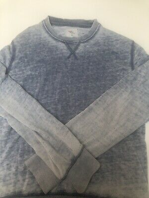 Cedar Wood State Jumper L Vintage Light Blue Used Men Pullover Cardigan Cotton • 12.90£