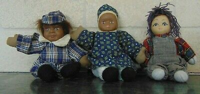 $ CDN15.86 • Buy Lot Of 3 Dollhouse Miniature Porcelain Dolls 6 Inches