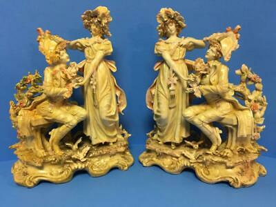 $ CDN319.27 • Buy Pair Of Mantel Porcelain Man Lady Proposal Engagement Dresden Figurines KPM VGC!