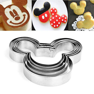 £2.84 • Buy 5Pcs Mickey Mouse Biscuit Cutter Mould Cake Cookies Pastry Mold DIY Baking Tool