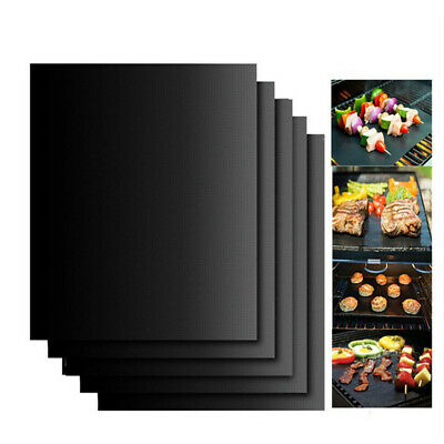 AU8.39 • Buy BBQ Grill Mat Reusable Bake Sheet Resistant Teflon Meat Barbecue Non-Stick TH