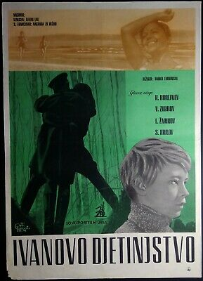 $147.50 • Buy MY NAME IS IVAN / IVANOVO DETSTVO Original 1962 Yugo Movie Poster TARKOVSKY RARE