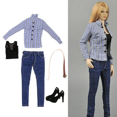 $21.20 • Buy 1/6 High-heeled Stiletto Shoes Jeans Set For Hot Toys Enterbay PH JO 12inch
