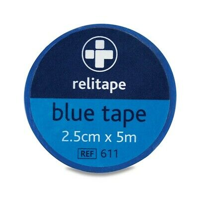 Reliance Blue Washproof 2.5cm X 5m Strapping Bandage Dressing Tape First Aid • 17£