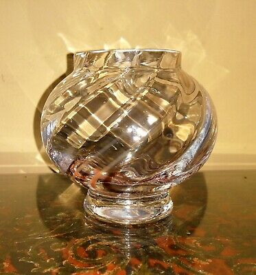 £7.50 • Buy Caithness Crystal Glass Bowl / Candle Holder - Brown Swirl