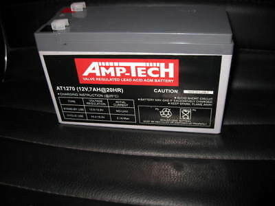 AU39.99 • Buy 12v AMP TECH  7amp BATTERY AT1270 SUITABLE FOR NBN & ALARM BACK UP BATTERIES