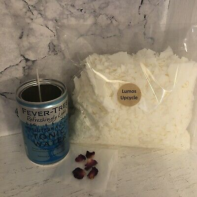 Candle Making Kit Soy Wax Upcycled Gin & Tonic Themed Candle (see Last Pic) • 10£