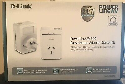AU99 • Buy D-Link DHP-P309AV Powerline AV500 Passthrough Network Adapter Starter Kit