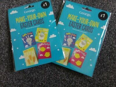 Children's EASTER Card Making Kit  4 X A6 Cards Easter  Kids Craft Kit. X 2  • 0.99£