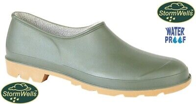 Mens Ladies Stormwells Garden Gardening Green Welly Wellington Clogs Shoes • 11.95£