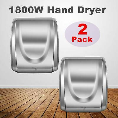 $196.59 • Buy 2Pcs 1800W Electric Stainless Steel Commercial And Household Auto Hand Dryer