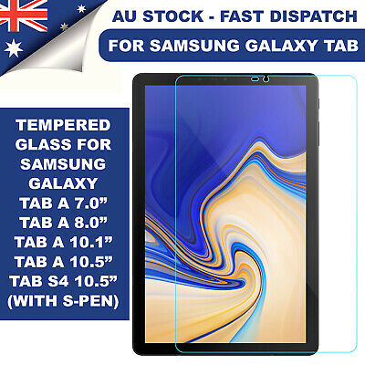 AU8.45 • Buy Samsung Galaxy Tab A 10.1 8.0 10.5 S4 S5e S6 Tempered Glass Screen Protector