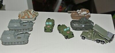 Micro Machines Military Vehicles Cars M60A3 Elefant Tank Jeep Type 74 Launcher • 5.99£