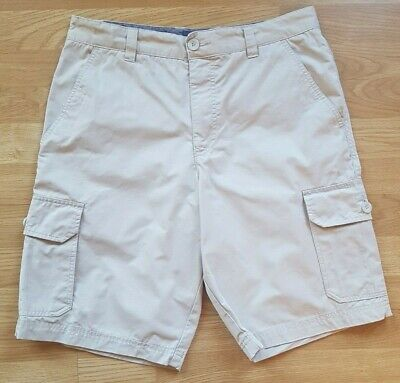 Men's Atlantic Bay Cargo Shorts, Beige, W32 L11, 100% Cotton, Hardly Worn • 5.99£