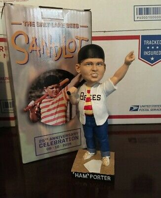 $ CDN44.39 • Buy  Ham  Porter The Great Hambino Sandlot Salt Lake Bees 2018 Bobblehead Nib