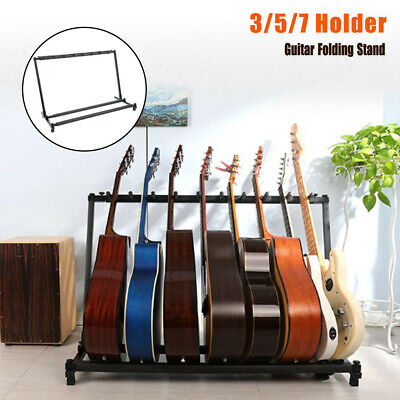 AU29.22 • Buy 5 7 Way Multi Guitar Stand Foldable Acoustic Electric Electric Bass Guitar Rack