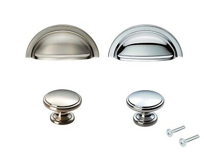 Traditional Cabinet Knob Cup Handle Cupboard Kitchen Wardrobe Door Drawer  • 3.18£
