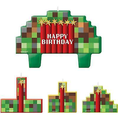 AU11.95 • Buy Tnt Minecraft Happy Birthday Candle Cake Set 4pcs Party Supplies Decorations